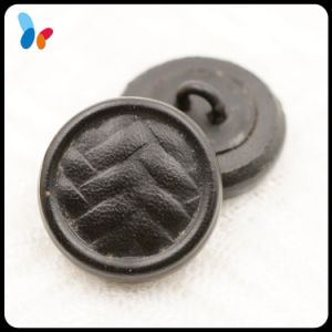 High Quality Black Genuine Cow Hide Leather Shank Button for Suit pictures & photos