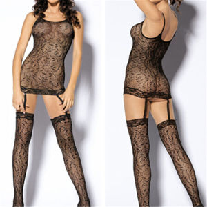 New Fashion Fishnet Open Crotch Underwear Sexy Black Lingerie (53008) pictures & photos