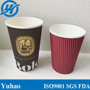 16oz Double Wall Ripple Paper Cup pictures & photos