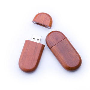 Oval Wooden USB Flash Drive pictures & photos