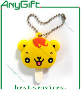 Elephant Shaped Soft PVC Keyring with 3D 1 Side Design pictures & photos