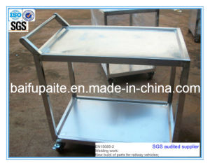 Wholesale Stainless Steel Two Layers Trolley Wheelbarrow pictures & photos