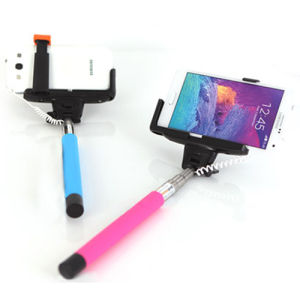 Cable Connection Extendable Selfie Stick Monopod for iPhone pictures & photos