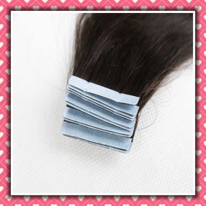 "Brown Color Virgin Human Hair Tape Hair Silky 16"" pictures & photos"