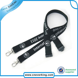 Double Metal Hook Plain Polyester Lanyard pictures & photos