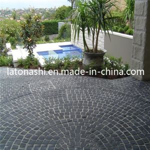 China Natural Black Basalt Cobblestone Non Slip Cube