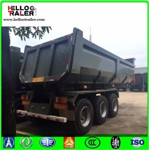 Multi Axles Gravel Transport End Tipping Semi Trailer / Rear Dump Semi Trailer for Truck pictures & photos