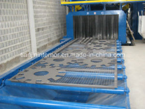Steel Plate Preservation Wheel Shot Blasting Line