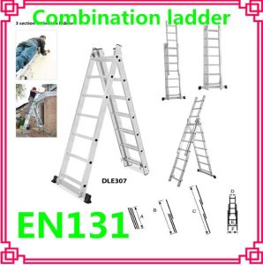 Extension Folding Ladder /Aluminum Scaffolding Ladder (DLE307) pictures & photos