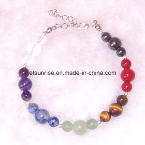 Natural Stone Round Beads Elasticity Rope Men Women Bracelet pictures & photos