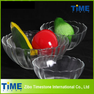 Crystal Clear Glass Salad Serving Bowls (15033102) pictures & photos