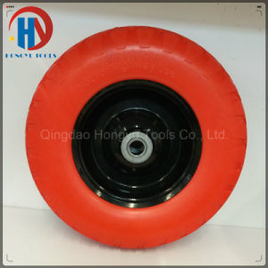 Metal Rim with Bearings 4.00-8 Solid PU Foam Wheel pictures & photos