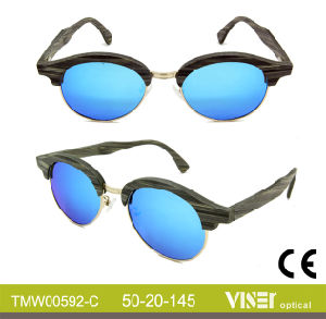 Fashion Wooden Sunglasees with High Quality (592-A) pictures & photos
