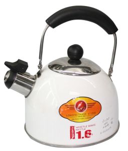 Round Stainless Steel Water Kettle with Bakelite Handle pictures & photos
