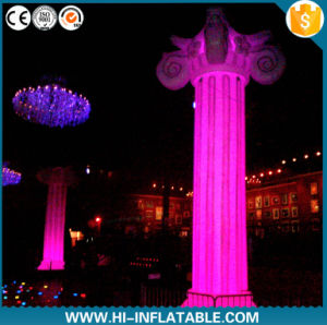 2016 Hot Sale Inflatable Roman Column with LED Lighting