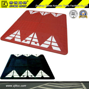 France Standard Reflective Red & Black Car Speed Safety Industrial Rubber Lumps Cushions (CC-B68) pictures & photos