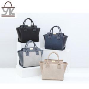 Contrast Color Bat Fashion Shoulder PU Leather Designer Handbags pictures & photos