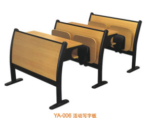 Metal Frame Wood Student Desk and Chair for Four Student (YA-006) pictures & photos