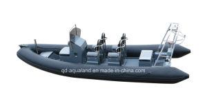 Aqualand 21feet 6.4m Rigid Inflatable Speed Boat/Fiberglass Rib Patrol Boat (RIB640T) pictures & photos