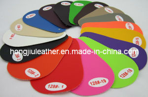 Supply Colorful PVC Artificial Car Leather (128#) pictures & photos