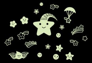 Glow-in-Dark Sticker and Glowing Star in Night pictures & photos