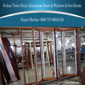 1.6mm Strong & Security Aluminum Folding Doors with Germany Lock pictures & photos