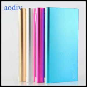 Dual USB Metal Polymer Battery Power Bank 6000mAh Factory Produce