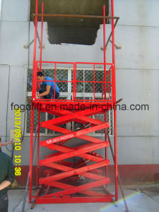Factory Hydraulic Goods Lift/Warehouse Portable Lift Platform Electric Guide Rail Cargo Elevator pictures & photos