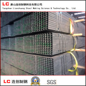 50mmx30mm Black Rectangular Steel Pipe with High Quality pictures & photos