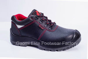 Low Cut Black Embossed Buffalo Leather Safety Shoe Rocky-R1