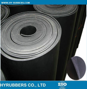 Factoty Produce Black Rubber Sheet with Cloth Inserted pictures & photos