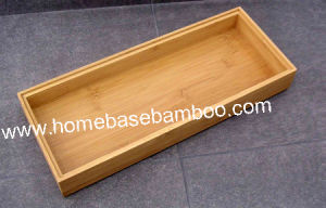 Bamboo in Drawer Storage Box Tray (Stackable Box) Hb5009 pictures & photos