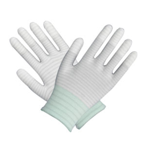 Light Blue+ Gray U3PU Glove Ce pictures & photos