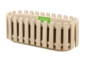 Wooden Fence Style Planter (Oval)