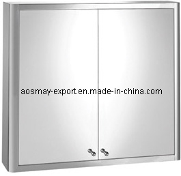 Stainless Steel Mirror Cabinet with One Door (ASM-375BD)