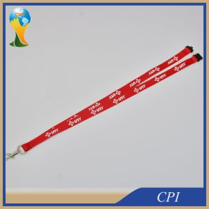 Polyester Custom Red Lanyard with Carbine Hook pictures & photos