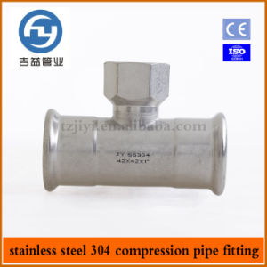 Stainless Steel Press Fitting Female Tee