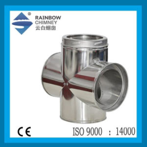 Stainless Steel Fourway Pipe - Tee for Chimney Flue Kits pictures & photos