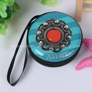 Fashionable Zipper Lock Round Souvenir Coin Purse pictures & photos