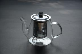 2016 Hot Sell Heat Resistant Glass Teapot with Tea Warmer 350ml pictures & photos