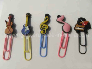 Music Style 3D PVC Rubber Bookmark pictures & photos