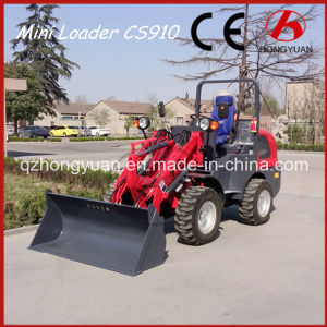 Mini Wheel Loader with 1000kg Rated Loading Weight (HY910) pictures & photos