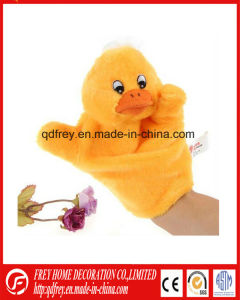 Yellow Plush Duck Hand Puppet Toy for Kids Story pictures & photos