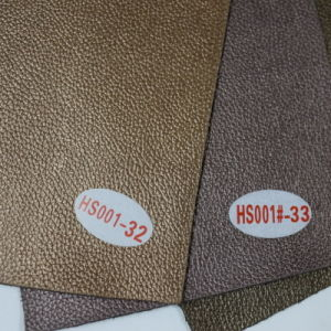 2015 New Pattern Printing Wholesale Faux Leather Fabric (HS001#) pictures & photos