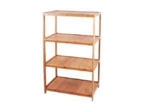 Bamboo 4-Layers Shelf Storage Rack pictures & photos