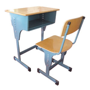 Cheap Wooden Single Student Desk and Chair