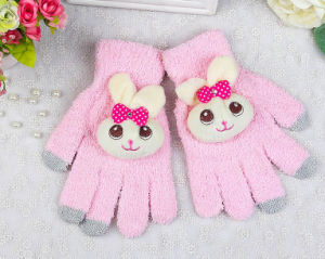 Winter Warm Cute Rabbit Soft Touch Screen Fashion Lady iPad Smart Phone Gloves pictures & photos