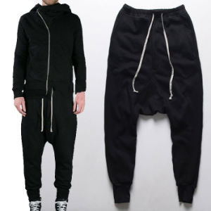 Drop Crotch Plain Harem Pants Jogger Trousers pictures & photos