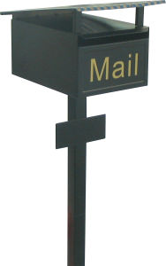 Unique Mail Top Design Square Pole Standing Mailboxes/ Post Mounted (JHC-1057)