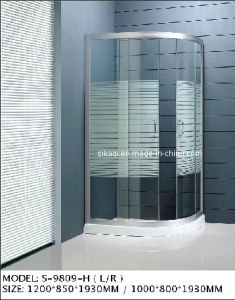 Oval Shaped Shower Enclosure with Thredhold pictures & photos